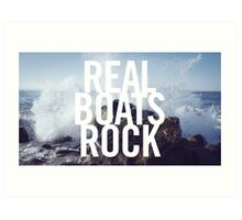 Real Boats Rock Art Print