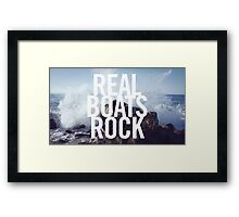 Real Boats Rock Framed Print