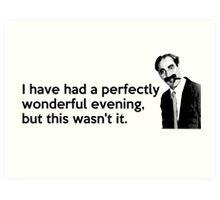 Groucho quote Art Print