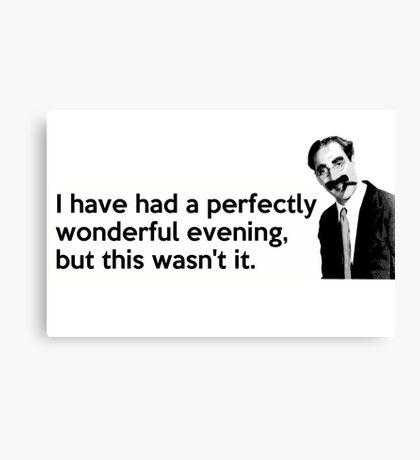 Groucho quote Canvas Print