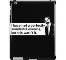 Groucho quote iPad Case/Skin