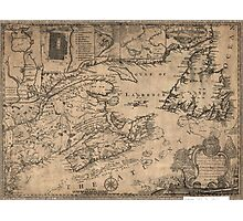 American Revolutionary War Era Maps 1750-1786 967 This map of the province of Nova Scotia and parts adjacent Photographic Print