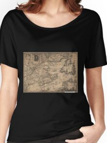 American Revolutionary War Era Maps 1750-1786 967 This map of the province of Nova Scotia and parts adjacent Women's Relaxed Fit T-Shirt