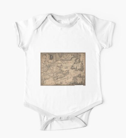 American Revolutionary War Era Maps 1750-1786 967 This map of the province of Nova Scotia and parts adjacent One Piece - Short Sleeve