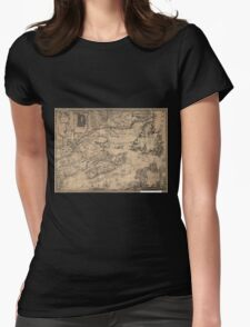 American Revolutionary War Era Maps 1750-1786 967 This map of the province of Nova Scotia and parts adjacent Womens Fitted T-Shirt
