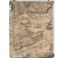 American Revolutionary War Era Maps 1750-1786 967 This map of the province of Nova Scotia and parts adjacent iPad Case/Skin