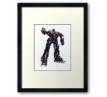 Movie Optimus Prime Blueprint Framed Print