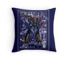 Movie Optimus Prime Blueprint Throw Pillow