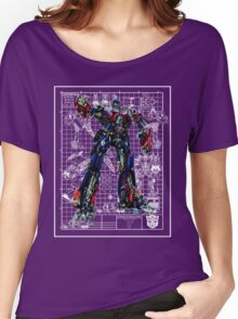 Movie Optimus Prime Blueprint Women's Relaxed Fit T-Shirt