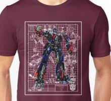 Movie Optimus Prime Blueprint Unisex T-Shirt