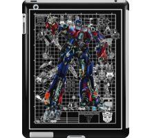 Movie Optimus Prime Blueprint iPad Case/Skin