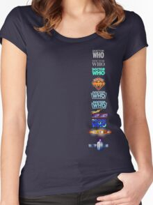 Doctor Who Logos Women's Fitted Scoop T-Shirt