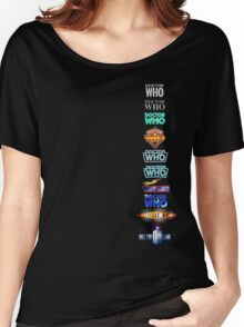 Doctor Who Logos Women's Relaxed Fit T-Shirt