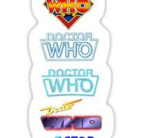 Doctor Who Logos Sticker