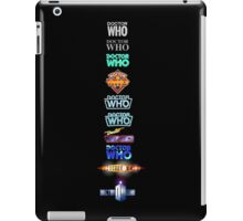 Doctor Who Logos iPad Case/Skin