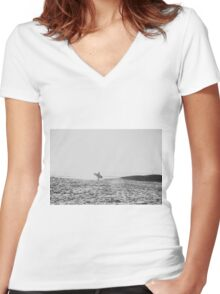 Surfer's Point Women's Fitted V-Neck T-Shirt