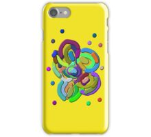 Retro Colors Abstract Flower iPhone Case/Skin