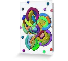 Retro Colors Abstract Flower Greeting Card