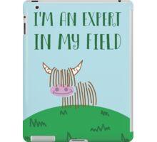 Highland Cow Expert In My Field iPad Case/Skin