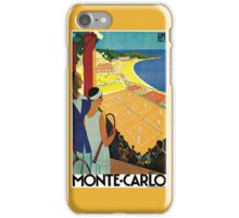 1920s Vintage Monte Carlo Tennis Travel Ad  iPhone Case/Skin