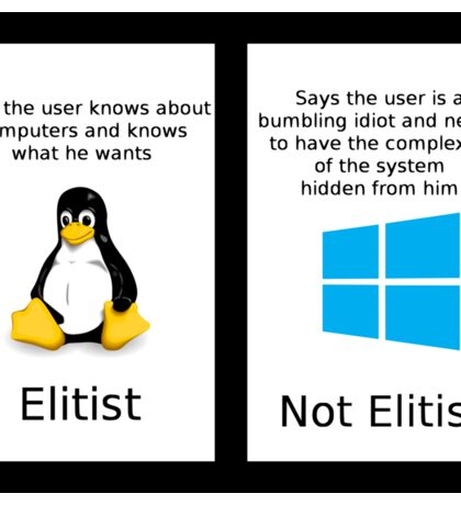 linux vs windows Sticker