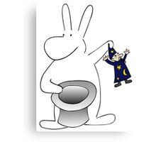 Rabbit and magician Canvas Print