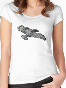 Firefly Serenity Space Ship Women's Fitted Scoop T-Shirt