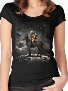 Space Tourist Women's Fitted Scoop T-Shirt