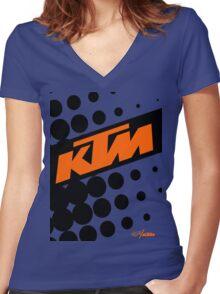 KTM Polka Women's Fitted V-Neck T-Shirt