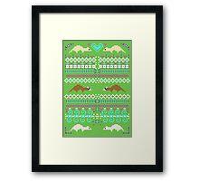 Pixel / 8-bit Ferret Pattern Framed Print