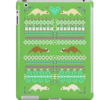 Pixel / 8-bit Ferret Pattern iPad Case/Skin