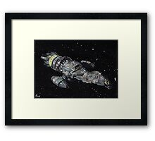 Firefly Serenity Space Ship! Framed Print