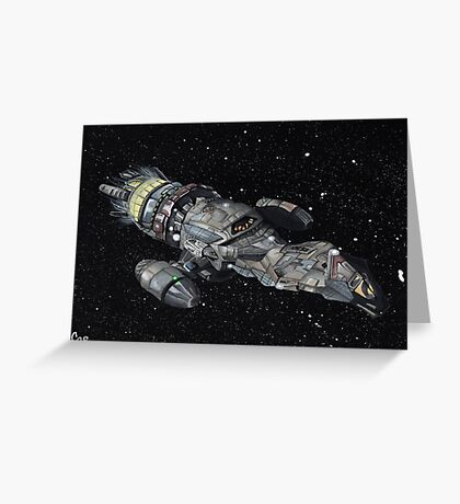Firefly Serenity Space Ship! Greeting Card