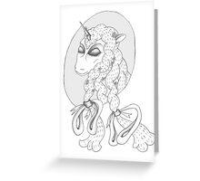 Peaceful Unicorn  Greeting Card