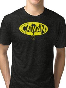 cat man Tri-blend T-Shirt