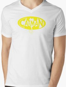 cat man Mens V-Neck T-Shirt