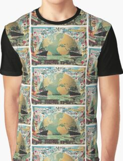 Vintage voyage around the world travel advertising Graphic T-Shirt