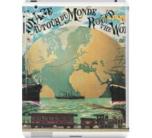 Vintage voyage around the world travel advertising iPad Case/Skin
