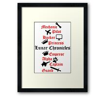 Lunar Chronicle characters Framed Print