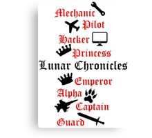 Lunar Chronicle characters Canvas Print