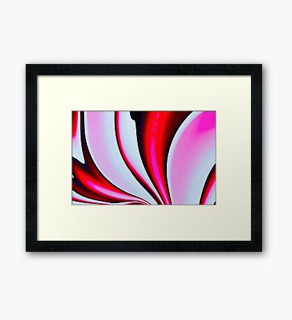Abstract Fractal Colorways 02BPk Framed Print