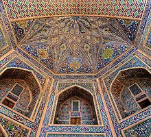 Central Asian Decorated Building by pixog