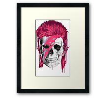 Bowie Skull Framed Print