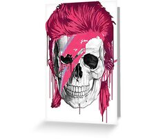 Bowie Skull Greeting Card
