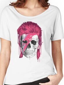 Bowie Skull Women's Relaxed Fit T-Shirt