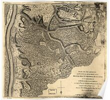 American Revolutionary War Era Maps 1750-1786 778 Plan of the encampment and position of the army under His Excelly Lt General Burgoyne at Swords House on Poster