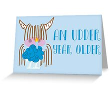 Highland Cow Birthday  Greeting Card