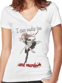 Fire Emblem Fates - Felicia (Tea & Murder) Women's Fitted V-Neck T-Shirt