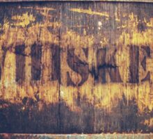 Rustic American Whiskey Barrel Sticker