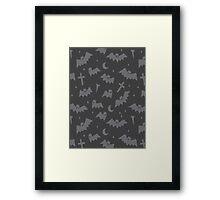 Spooky Bats  Framed Print